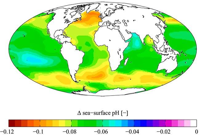 acidificacion de los oceanos mapa