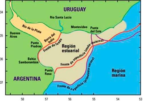 Mapa Estuario Rio de la Plata