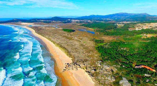 playas de corrubedo foto panoramica