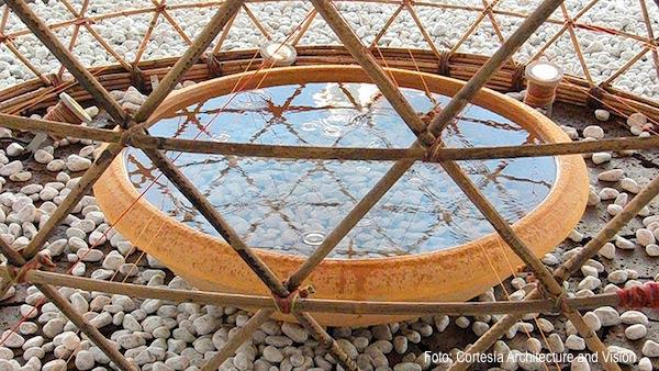 agua colectada de Warka Water
