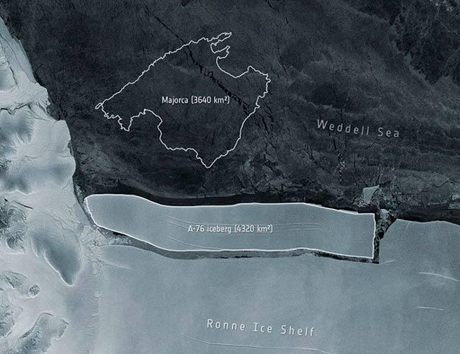 iceberg A-76 mas grande que Mallorca